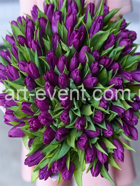 Букет -101 Малиновый тюльпан-_01