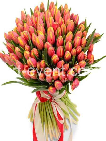 Букет -101 Оранжевый тюльпан-_01