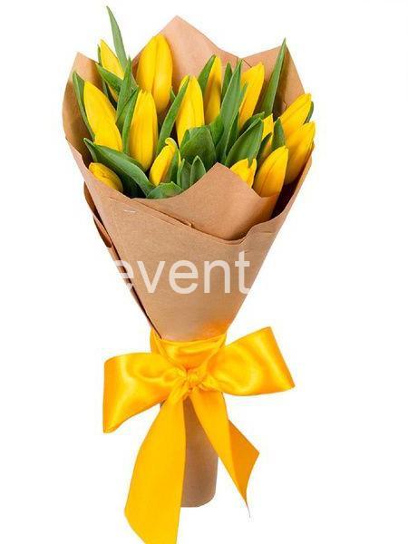 Букет -15 Желтых тюльпанов-_01