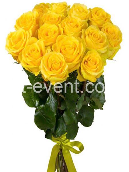 Букет -21 Желтая Роза-_01