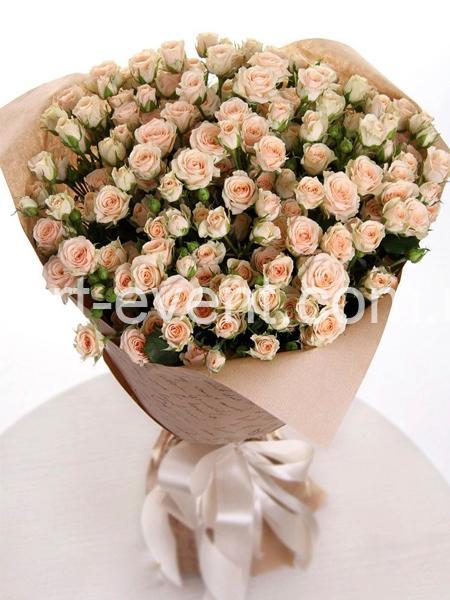 Букет -21 Кремовая роза спрей-_01