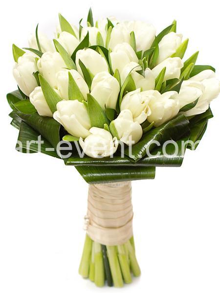 Букет -25 Белых тюльпанов-_01